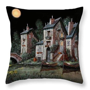 Verde Notturno Throw Pillow