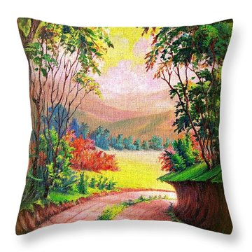 Verde Que Te Quero Verde Throw Pillow by Leomariano artist BRASIL