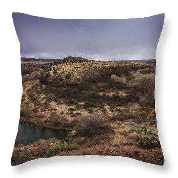 Verde River Horseshoe Throw Pillow