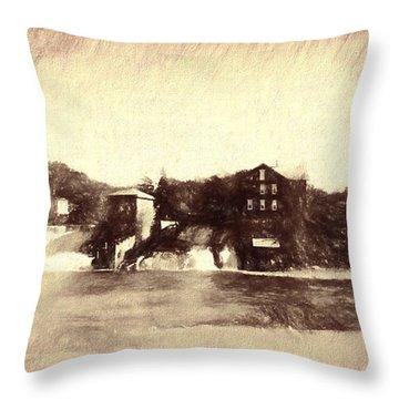 Vergennes Falls, Vt 2015 Throw Pillow by Rena Trepanier