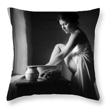 Vermeer Footwasher Throw Pillow
