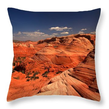 Vermilion Cliffs Rugged Landscape Throw Pillow