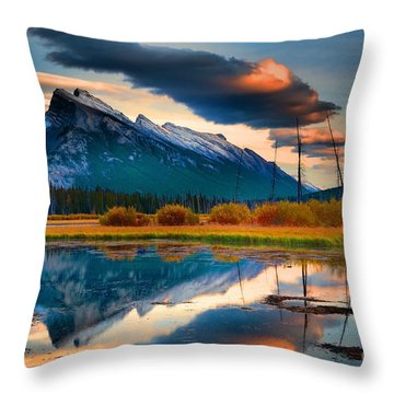Vermillion Beauty Throw Pillow by Tara Turner