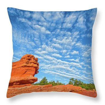 Vermillion Is The Color Of The Rock.  Throw Pillow