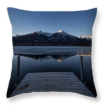 Vermillion Lakes At Dawn Throw Pillow