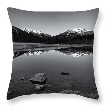Vermillion Mono Throw Pillow