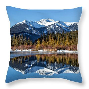 Vermillion Reflections Throw Pillow