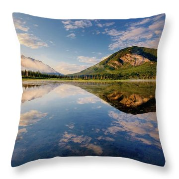 Vermilion Reflections Throw Pillow
