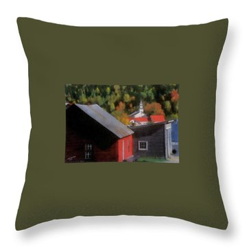 Vermont Again Throw Pillow