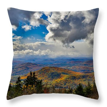 Vermont Autumn From Mt. Ascutney Throw Pillow
