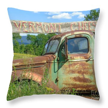Vermont Cheese Throw Pillow by Susan Lafleur