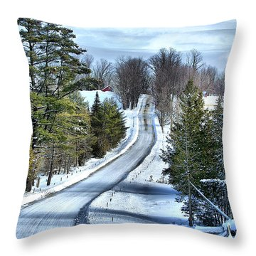 Vermont Country Landscape Throw Pillow by Deborah Benoit