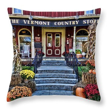 Vermont Country Store Throw Pillow by Nancy De Flon