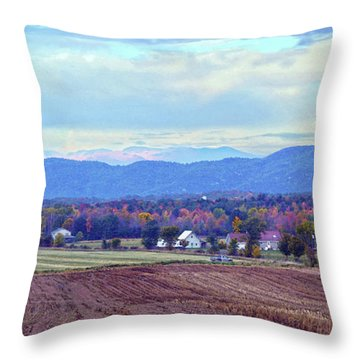 Vermont Countryside In Autumn Throw Pillow by Catherine Sherman