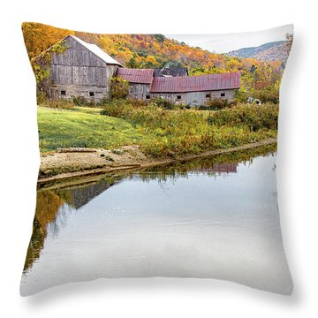 Vermont Countryside Throw Pillow