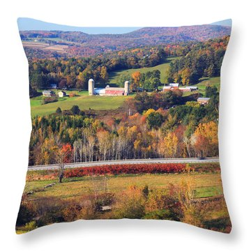 Vermont Countryside View Pownal Throw Pillow by John Burk