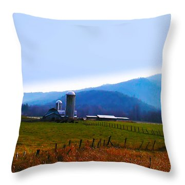 Vermont Farm Throw Pillow by Bill Cannon