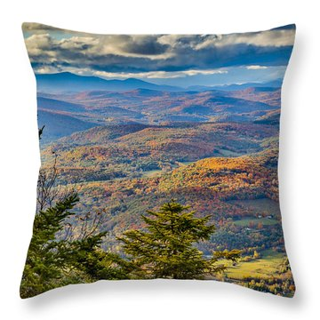 Vermont Foliage From Mt. Ascutney Throw Pillow