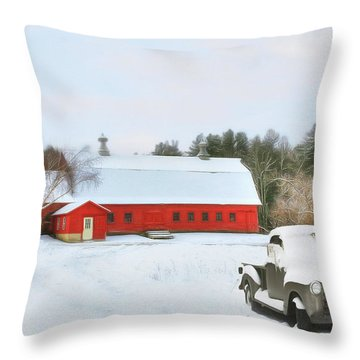 Vermont Memories Throw Pillow