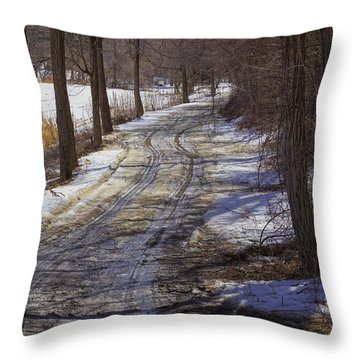 Throw Pillow featuring the photograph Vermont Mud Season by Tom Singleton