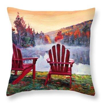 Vermont Romance Throw Pillow
