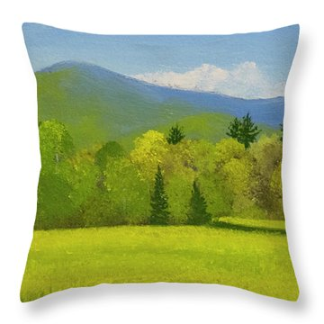 Throw Pillow featuring the painting Vermont Spring by Frank Wilson