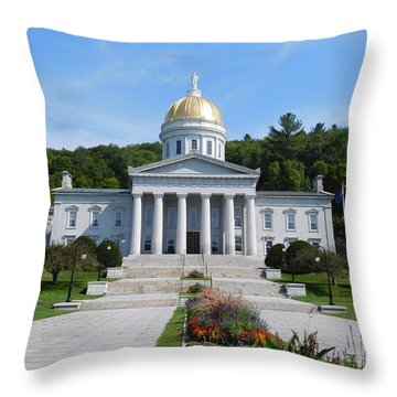 Vermont State House Throw Pillow