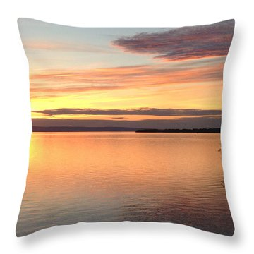 Throw Pillow featuring the photograph Vermont Sunset, Lake Champlain by Felipe Adan Lerma