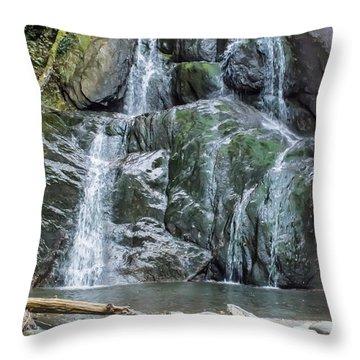 Vermont Waterfall Throw Pillow