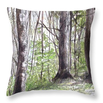Vermont Woods Throw Pillow