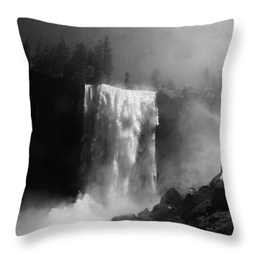 Vernal Fall And Mist Trail Throw Pillow