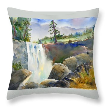 Vernal Falls Throw Pillow