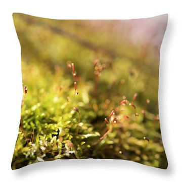 Vernal Impression Throw Pillow