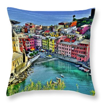 Vernazza Alight Throw Pillow