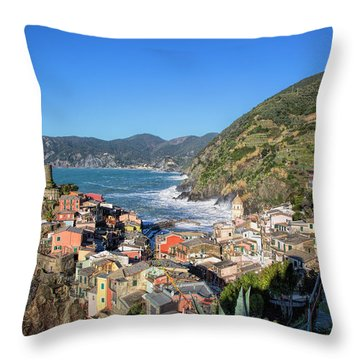 Vernazza In Cinque Terre Throw Pillow