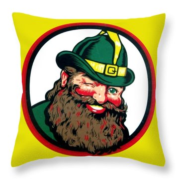 Vernors Ginger Ale - The Vernors Gnome Throw Pillow