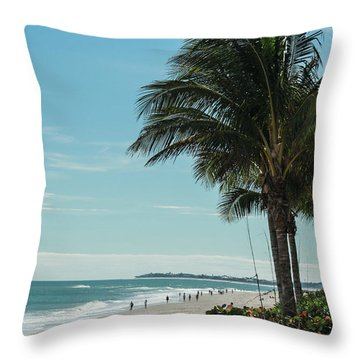Vero Beach Beach Throw Pillow