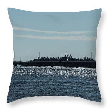 Vero Beach Causeway Throw Pillow by Nance Larson