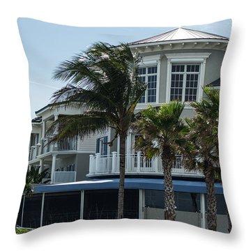 Vero Beach Condos Throw Pillow by Nance Larson