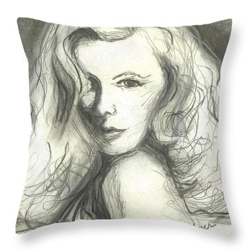 Veronica Lake Throw Pillow