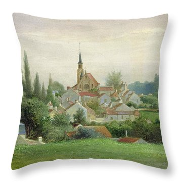 Verriere Le Buisson Throw Pillow by Eugene Bourrelier