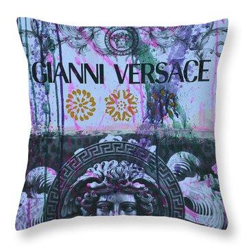Versace Logo 2 Throw Pillow