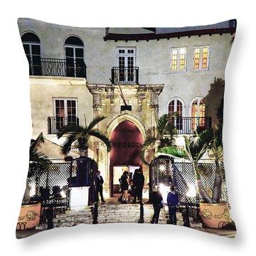 Versace Mansion South Beach Throw Pillow