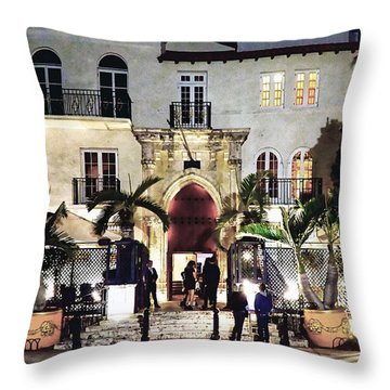 Throw Pillow featuring the photograph Versace Mansion South Beach by Gary Dean Mercer Clark