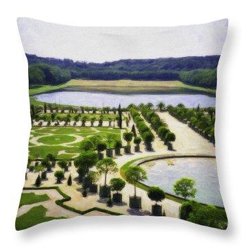 Versailles Digital Paint Throw Pillow