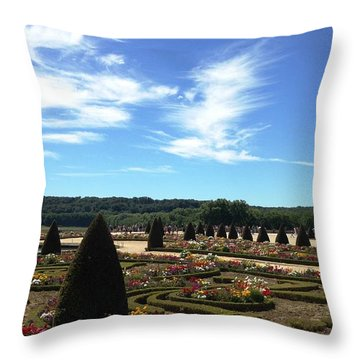 Versailles Palace Gardens Throw Pillow