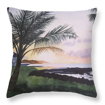 Throw Pillow featuring the painting Version 2 by Teresa Beyer