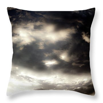 Throw Pillow featuring the photograph Versus by Eric Christopher Jackson