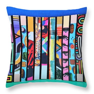 Vertical Colrs Throw Pillow