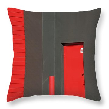 Vertical Red Throw Pillow